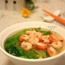 鲜虾生菜汤