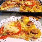 鲜虾杂蔬披萨