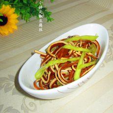 小拌尖椒豆腐丝的做法