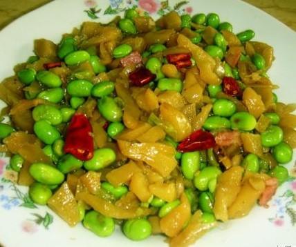 萧山萝卜干炒老豆的做法