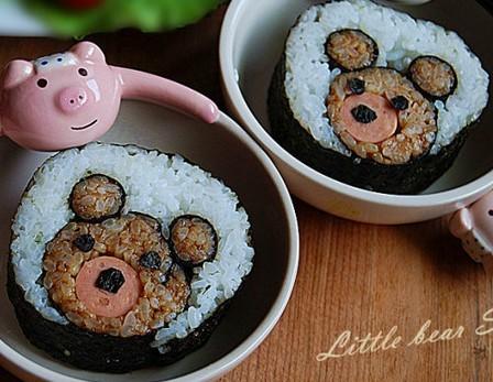 小熊寿司的做法