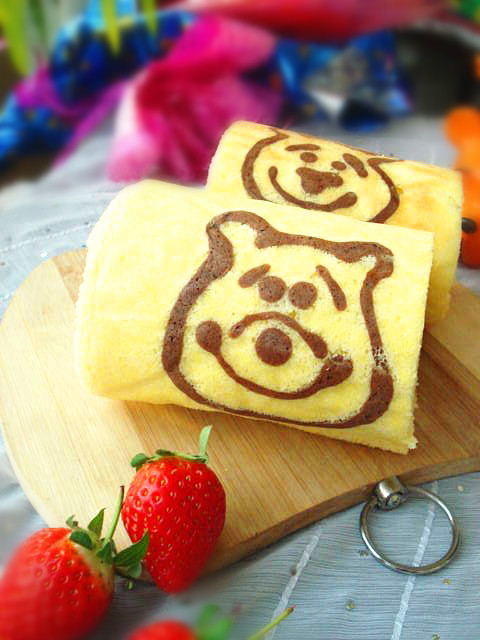 小熊维尼蛋糕卷