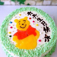 小熊维尼手绘蛋糕