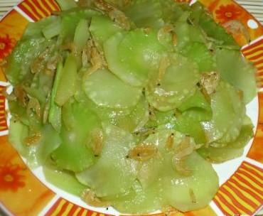 虾皮炒莴苣