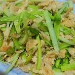 虾皮滑蛋炒韭黄