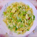 虾皮丝瓜炒蛋