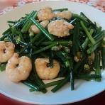 虾仁炒韭菜花的做法