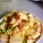 虾仁焖豆腐