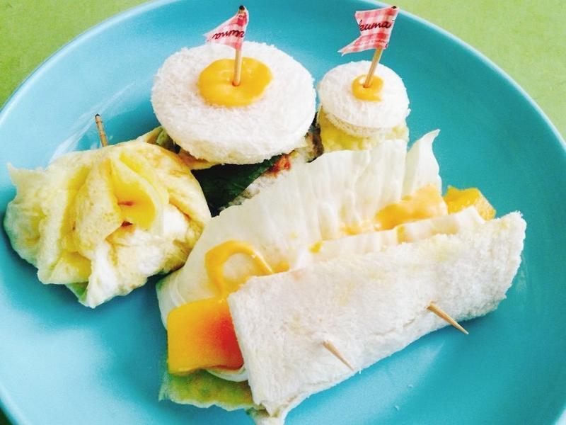 夏日轻食早午餐🍞迷你三明治。芒果卷