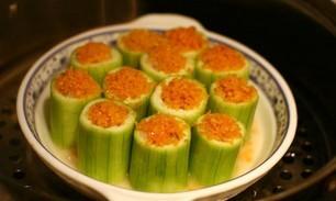 蟹黄虾蓉酿丝瓜