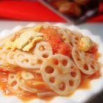 西红柿炒藕片的做法