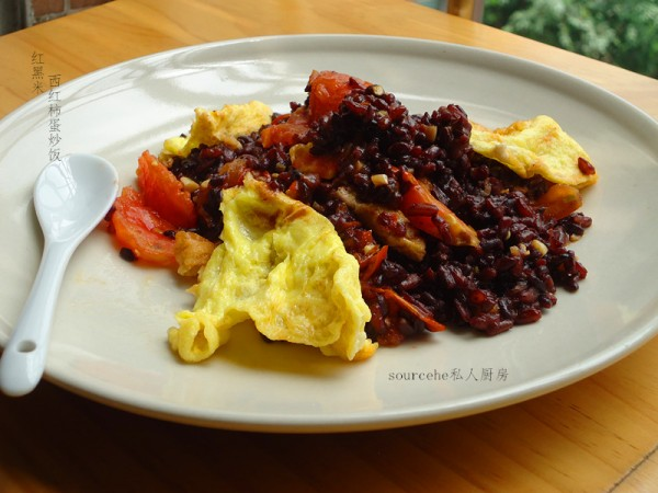 西红柿蛋炒饭的做法