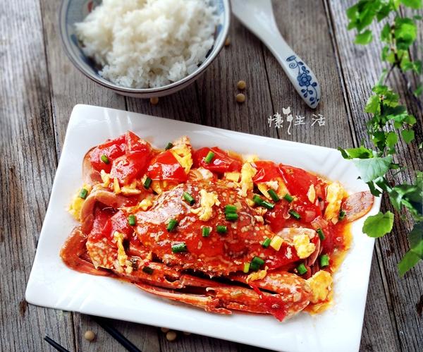 西红柿蛋烩螃蟹