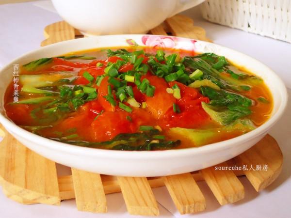 西红柿青菜羹