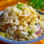 西葫芦炒双色米饭的做法