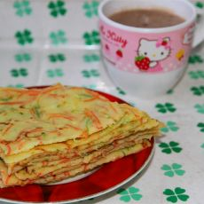 西葫芦胡萝卜鸡蛋饼