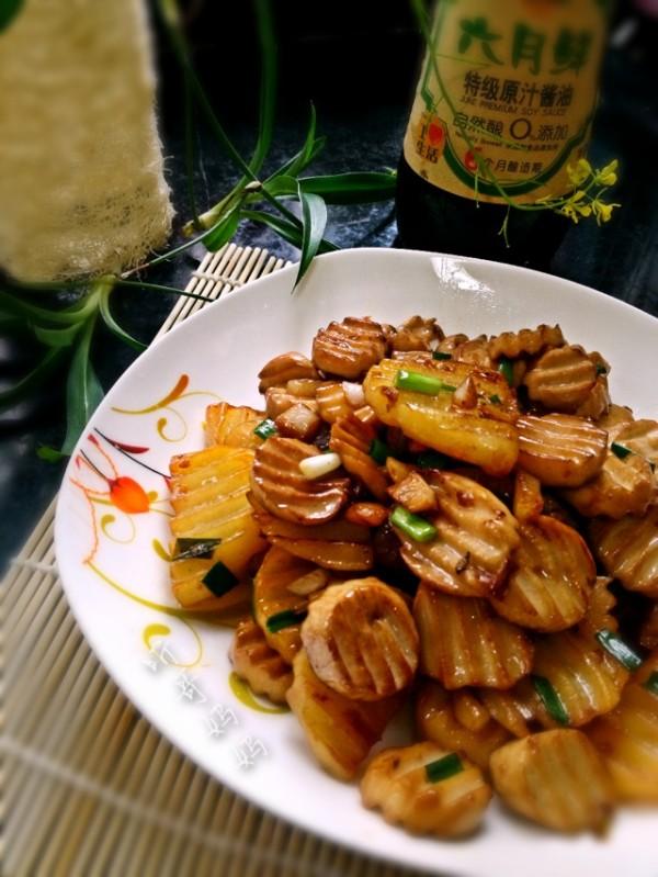 杏鲍菇炒土豆