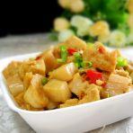 杏鲍烧豆腐的做法