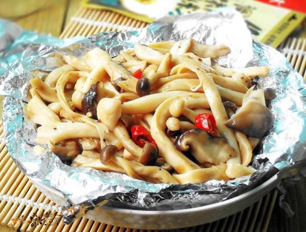 锡纸烤蘑菇的做法