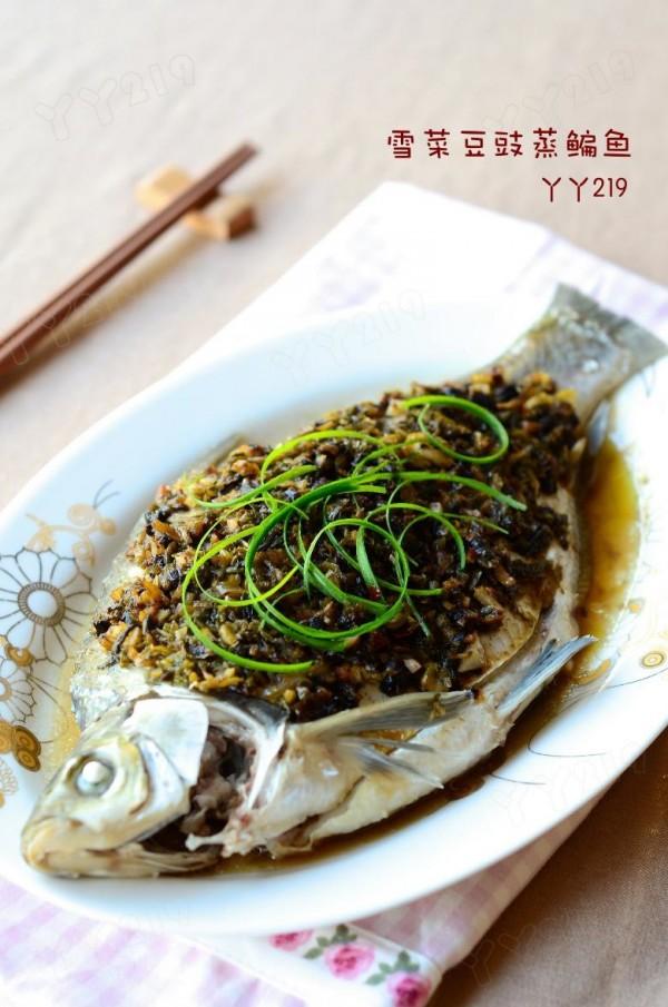 雪菜豆豉蒸鳊鱼