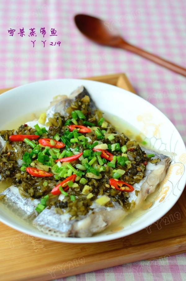 雪菜蒸带鱼