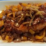 洋葱黑椒汁三文鱼