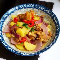 洋葱土豆烧鸡块