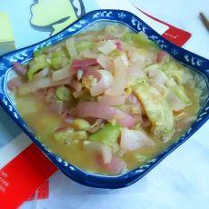 洋葱虾米炒丝瓜