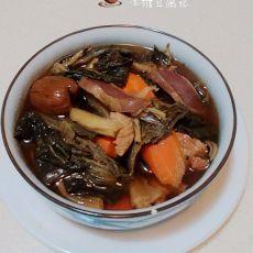 鸭胗猪展菜干汤