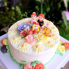 一家三口幸福蛋糕