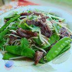 银芽荷豆香煎肉