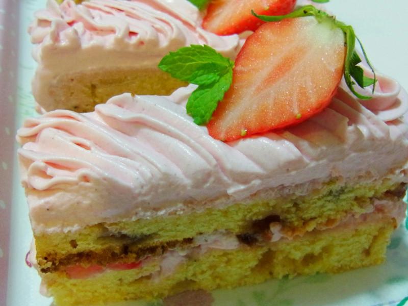 用电子锅做草莓蛋糕