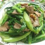 油麦菜炒滑肝