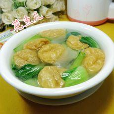 油面筋青菜冬瓜汤