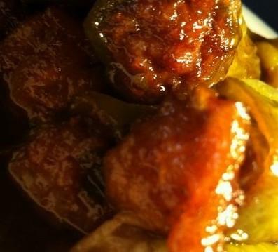 油焖酿肉辣椒