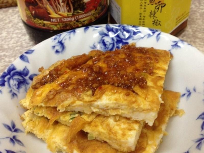 鱼卵涮酱蛋饼