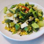 玉米蛋清炒青瓜的做法