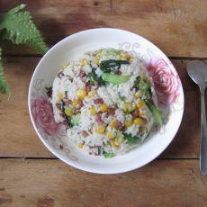 玉米腊肠炒米的做法