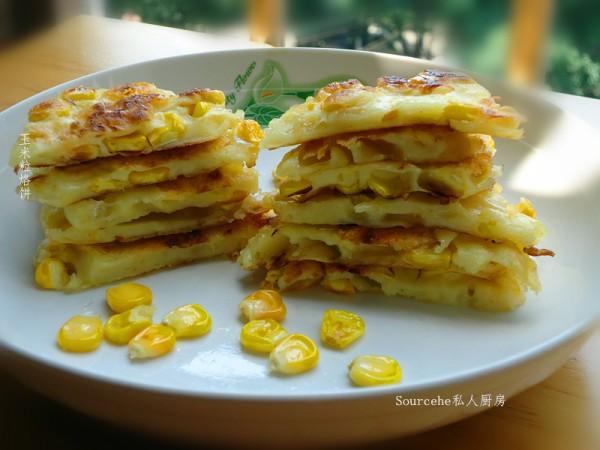 玉米粒烙饼的做法