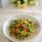 玉米茼蒿粉丝蒸的做法