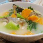 鱼头芥菜红薯汤的做法