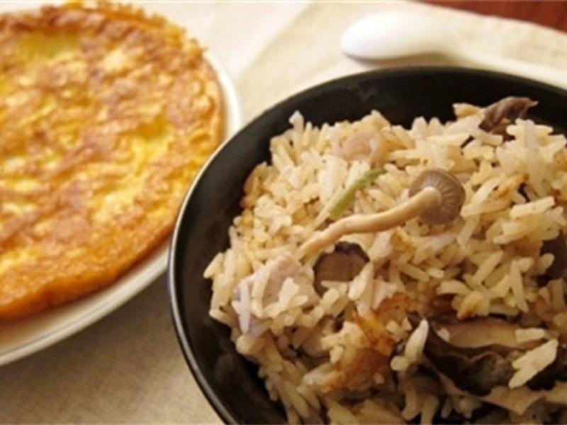 芋香鲜菇电锅炊饭的做法