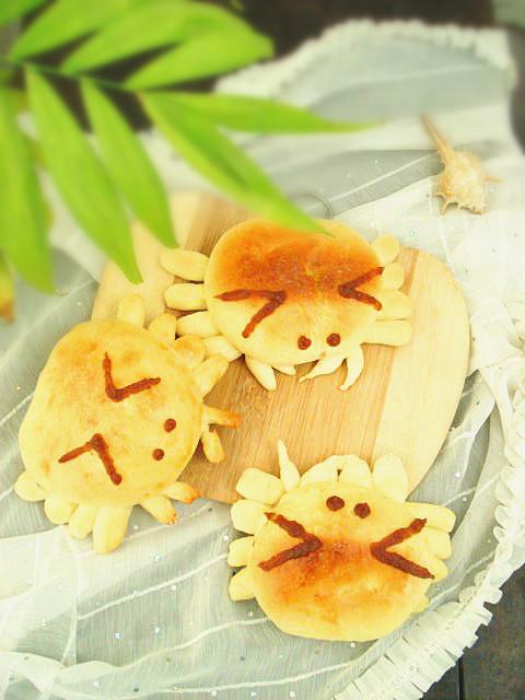 枣泥螃蟹小面包