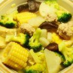 杂蔬肉丸煲
