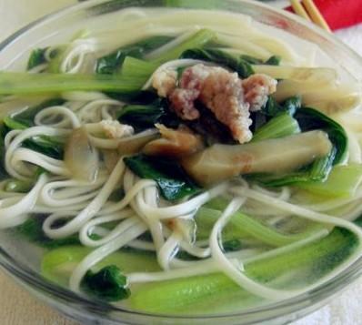 榨菜肉丝菜汤面