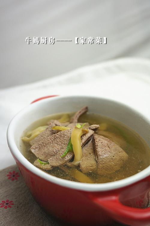 榨菜猪肝汤的做法