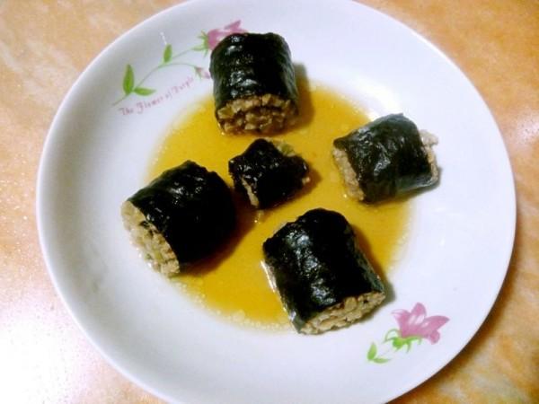 榨菜猪肉紫菜卷