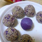 芝麻奶酷紫薯球的做法