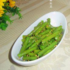 芝麻豇豆的做法