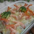 芝士焗虾饭